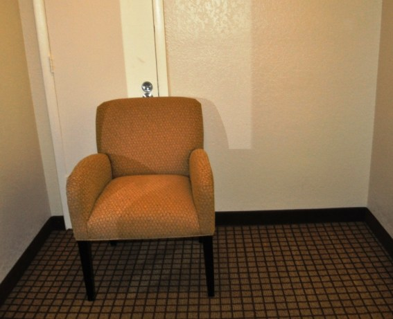 The Chair Looks Great Against the Door, Right?