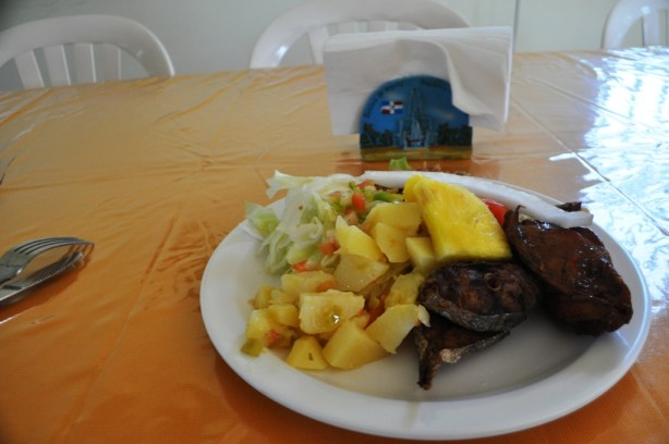 Dominican Lunch Following Visiting Los Haitises National Park
