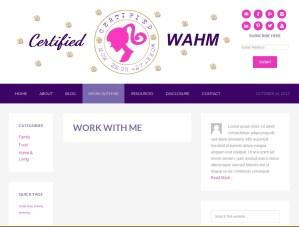 Certified WAHM Website