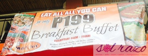 Marina Breakfast Buffet Promo