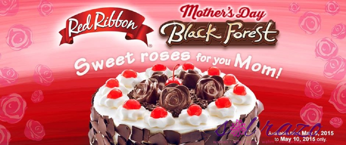 Red Ribbon Mother's Day Cake 2015