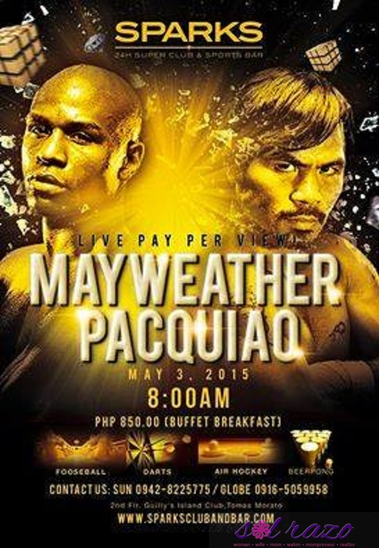 Watch it live: Pacman Mayweather pay per view at Sparks