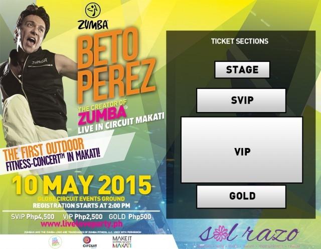 Zumba Founder Beto Perez Live at Circuit Makati