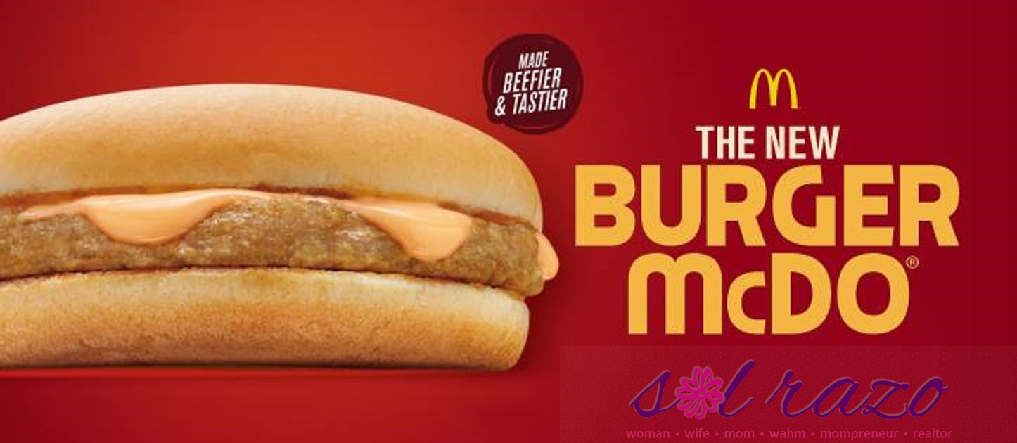 new burger mcdo