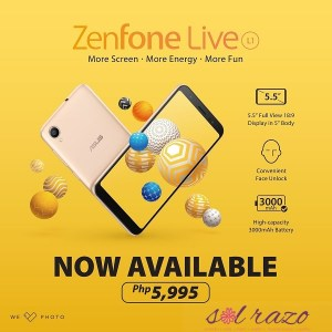 ZENFONE LIVE L1: Officially available nationwide