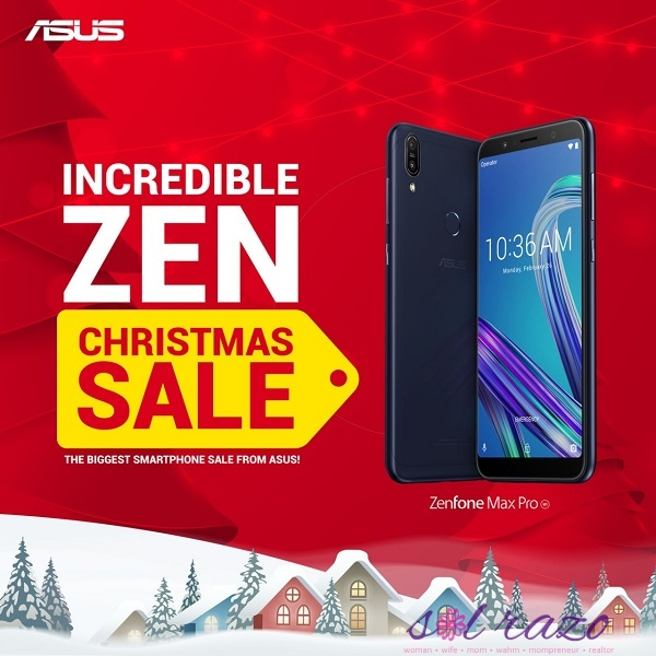 ZEN Christmas Sale: ZenFone Max Pro 4GB, other ZenFone favorites' holiday mark down!