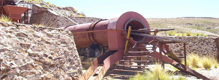 Trommel of gravity concentration plant on El Torno