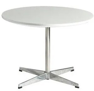 Mesa SW-REBL, baja, cromada, blanca, 60 cms
