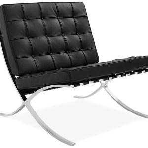 Silla BARNA, diseño, piel top negra