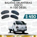 BALATA DELANTERA H100 DIESEL 2.5L