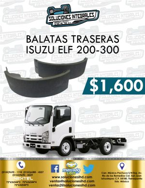 BALATAS TRASERAS ISUZU ELF 200 Y 300
