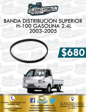 BANDA DISTRIBUCIÓN SUPERIOR H100 GASOLINA 2.4L