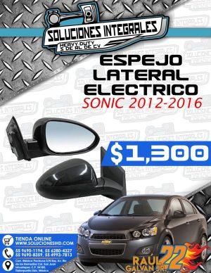 ESPEJO LATERAL ELÉCTRICO SONIC 2014-2016