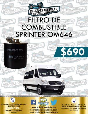 FILTRO COMBUSTIBLE SPRINTER OM646