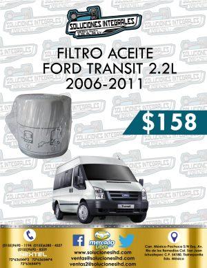 FILTRO ACEITE FORD TRANSIT 2.2L 2006-2011