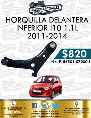 HORQUILLA DELANTERA INFERIOR I10 1.1L 2011-2014