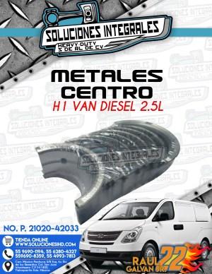 METALES CENTRO H1 VAN DIESEL 2.5L