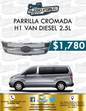 PARRILLA CROMADA H1 VAN DIESEL 2.5L