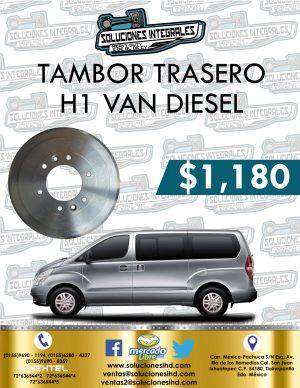 TAMBOR TRASERO H1 VAN DIESEL 2.5L