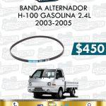 BANDA ALTERNADOR H100 GASOLINA 2.4L
