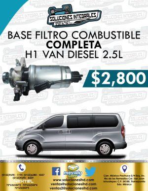 BASE FILTRO COMBUSTIBLE COMPLETO H1 VAN DIESEL 2.5L