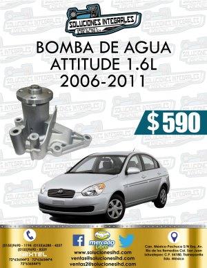 BOMBA AGUA ATTITUDE 1.6L 2006-2011