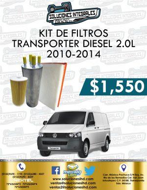 KIT FILTROS TRANSPORTER 2.0L DIESEL