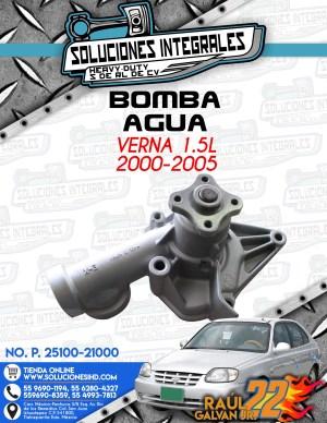 BOMBA AGUA VERNA 1.5L 2000-2005