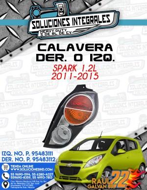 CALAVERA DER. O IZQ. SPARK 1.2L 2011-2015