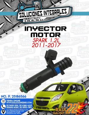 INYECTOR MOTOR SPARK 1.2L 2011-2017