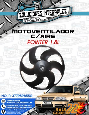 MOTOVENTILADOR CON AIRE POINTER 1.8L