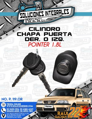 CILINDRO CHAPA PUERTA DER. O IZQ. POINTER 1.8L