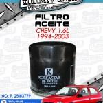 FILTRO ACEITE CHEVY 1.6L 1994-2003