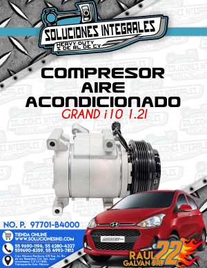 COMPRESOR AIRE ACONDICIONADO GRAND I10 1.2L