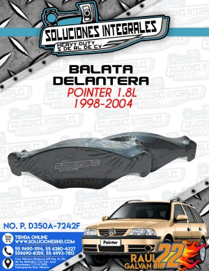 BALATA DELANTERA POINTER 1.8l 1998-2004