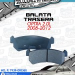 BALATA TRASERA OPTRA 2.0L 2008-2012