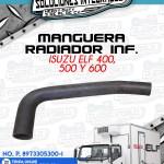 MANGUERA RADIADOR INFERIOR ISUZU ELF 400 500 y 600