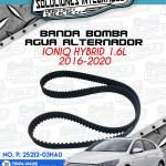 BANDA BOMBA AGUA ALTERNADOR IONIQ HYBRID 1.6L 2016-2020