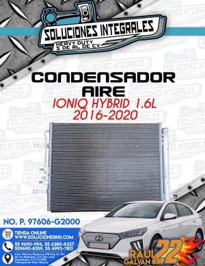 CONDENSADOR AIRE IONIQ HYBRID 1.6L 2016-2020