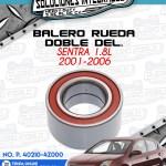 BALERO RUEDA DOBLE DELANTERO SENTRA 1.8L 2001-2006