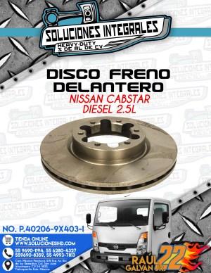 DISCO FRENO DELANTERO NISSAN CABSTAR DIESEL 2.5L