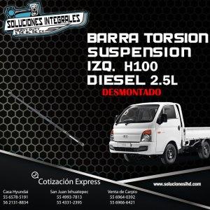 BARRA TORSIÓN SUSPENSIÓN IZQUIERDA DESMONTADA H100 DIESEL 2.5L