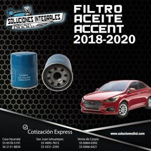 FILTRO ACEITE ACCENT 18-20