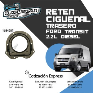 RETEN CIGÜEÑAL TRASERO FORD TRANSIT 2.2L DIESEL