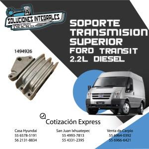 SOPORTE TRANSMISION SUP. FORD TRANSIT 2.2L