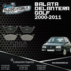 BALATA DELANTERA GOLF 00/11