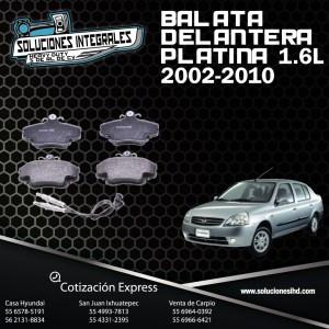 BALATA DELANTERA PLATINA 1.6L 02/10