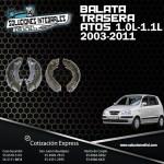 BALATA TRASERA ATOS 1.0L  1.1L 03/11