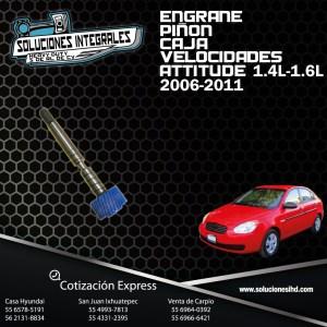 ENGRANE PIÑON CAJA VELOCIDADES ATTITUDE 1.4L-1.6L 06/11