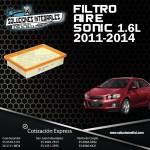 FILTRO AIRE SONIC 1.6L 11/14